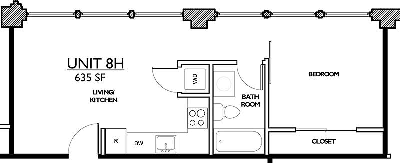 Residences 221 - Floor Plan 8H