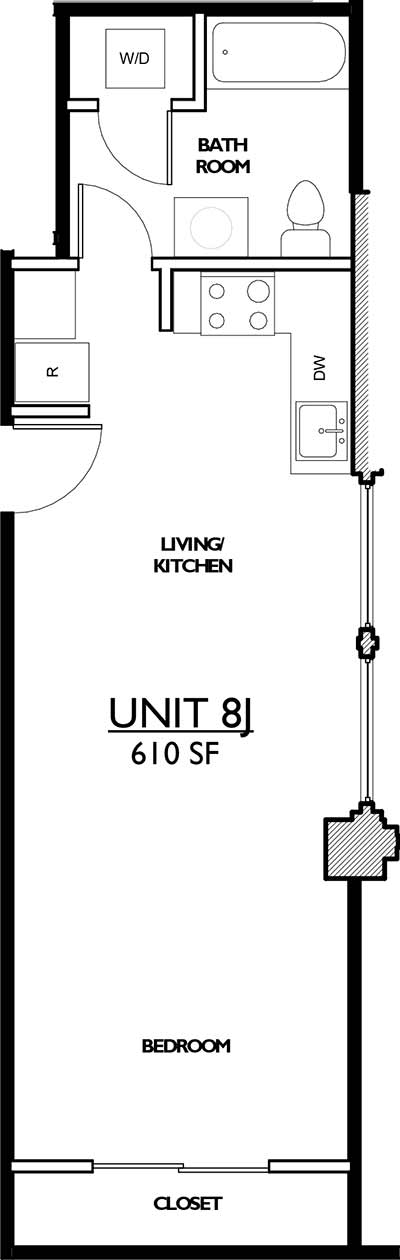 Residences 221 - Floor Plan 8J