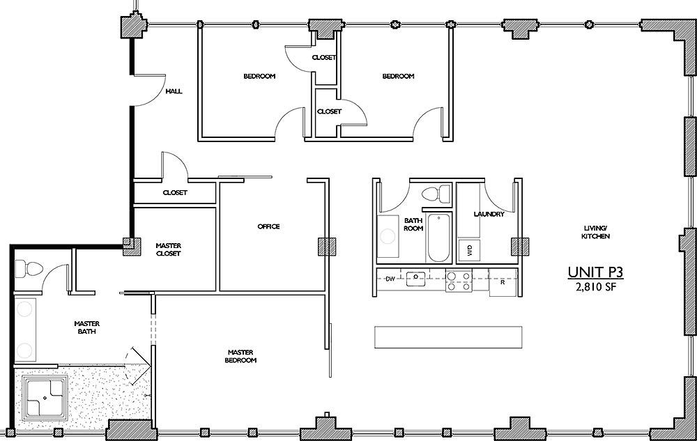 Residences 221 - Floor Plan Penthouse 3